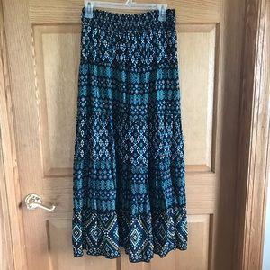 APT. 9 full, peasant, Boho,  maxi skirt